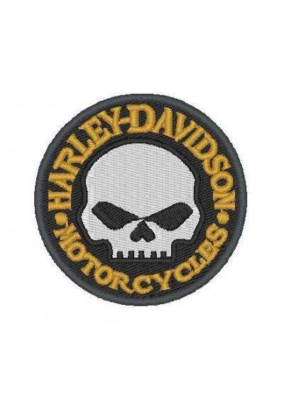 Harley-Davidson-Caveira  9x9 cm