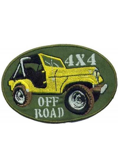 Jeep 4x4 Off-Road  Amarelo  14 x 8.5 CM