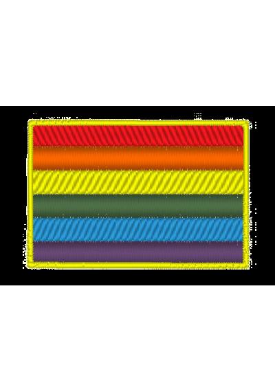 Bandeira arco-íris  2,5X4 CM