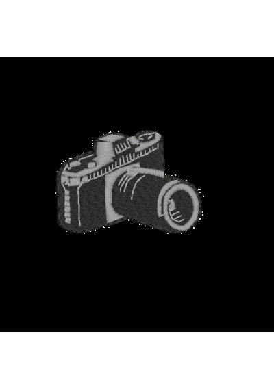 Bordados termocolantes Maquina Fotografica  8X7 CM