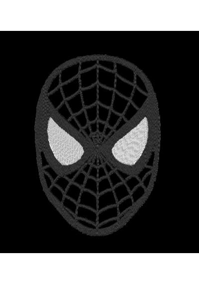 Bordados termocolantes Homem Aranha Preto 15X10 CM