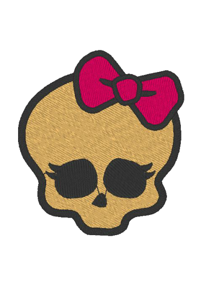 Monster High Fundo Dourado 8X7 CM