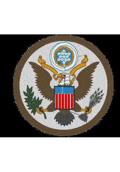Bordados termocolantes Grande Selo dos Estados Unidos  10X10 CM
