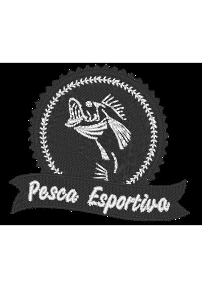 BORDADO TERMOCOLANTE PESCA ESPORTIVA 01  10X8 CM