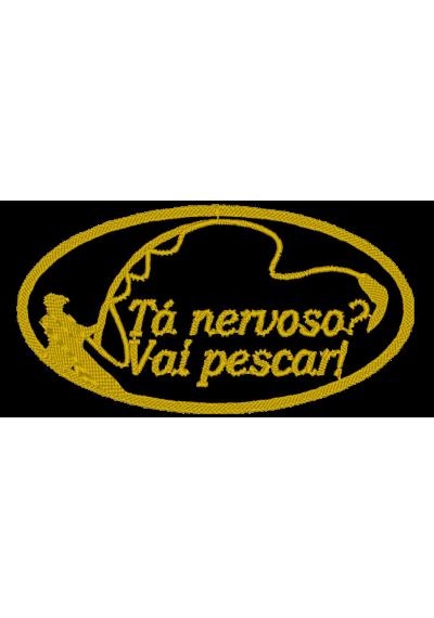 TÁ NERVOSO VAI PESCAR 9X6 CM