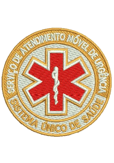 SAMU - Serviço de Atendimento Móvel de Urgência  10x10cm