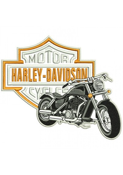 HARLEY DAVIDSON MOTO  14X17CM