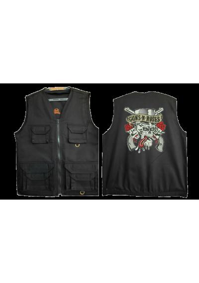 COLETES SAFARI PRETO   Guns N' Roses